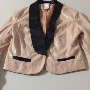 Vintage candies pink formal sequins jacket xl